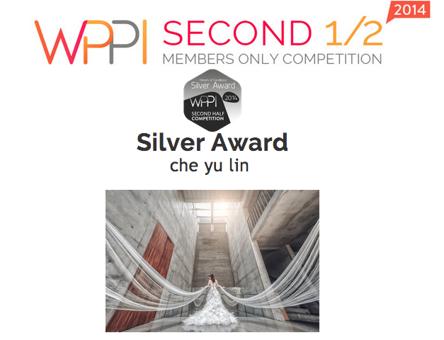 2014  WPPI 國際婚禮攝影師比賽  銀牌  獎次