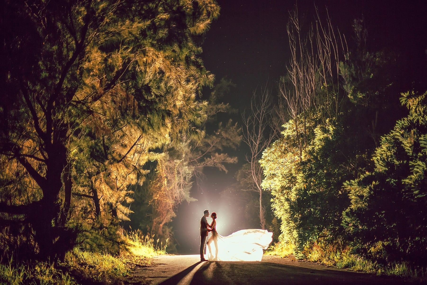 拍攝旗袍婚紗|中國風老塘湖|逆光|中式