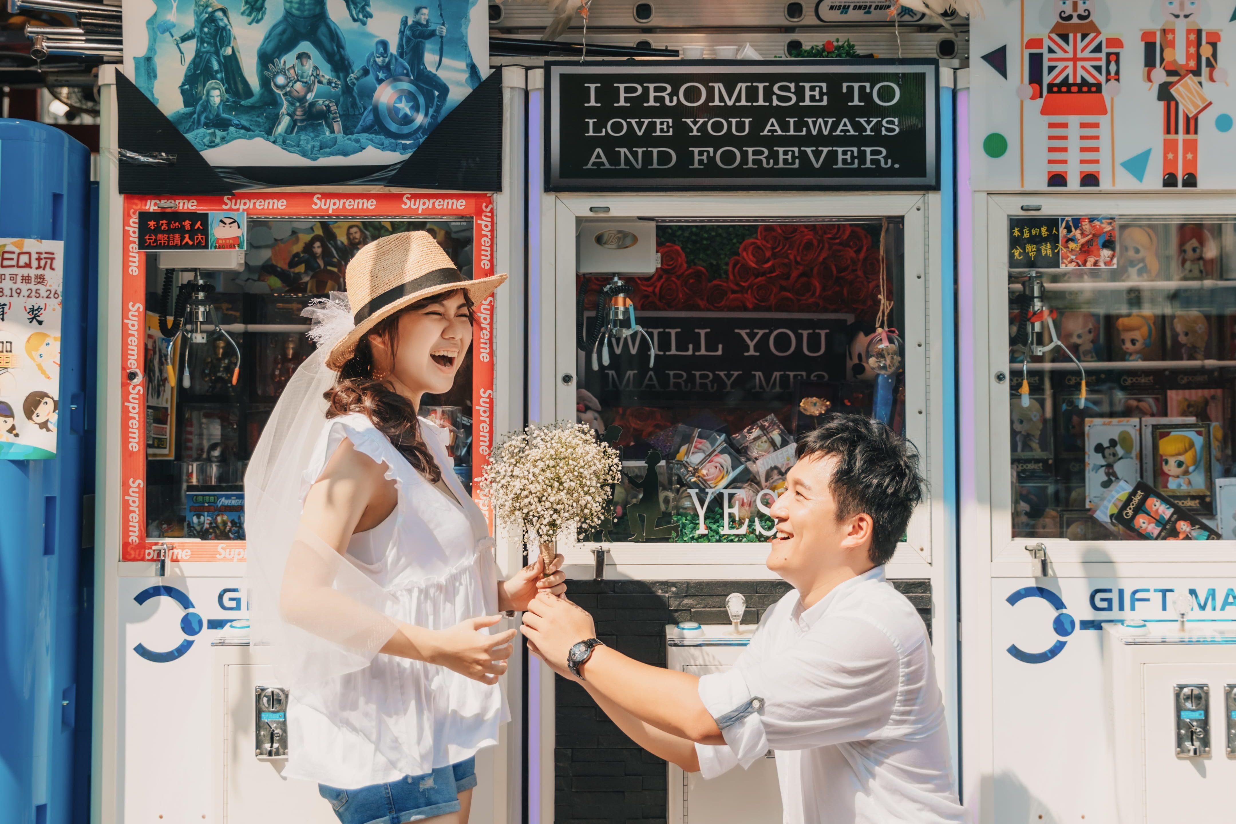 空氣日系輕婚紗寫真,台南涼感度假模式啟動 |Hermosa 禮服