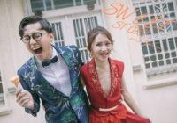 台南婚紗街拍風格、唯美白紗拍出兩人最自然的