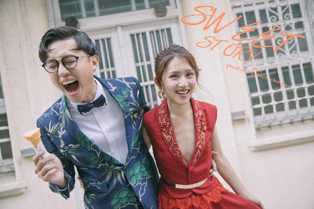 台南婚紗街拍風格、唯美白紗拍出兩人最自然的婚紗寫真|Hermose Wedding