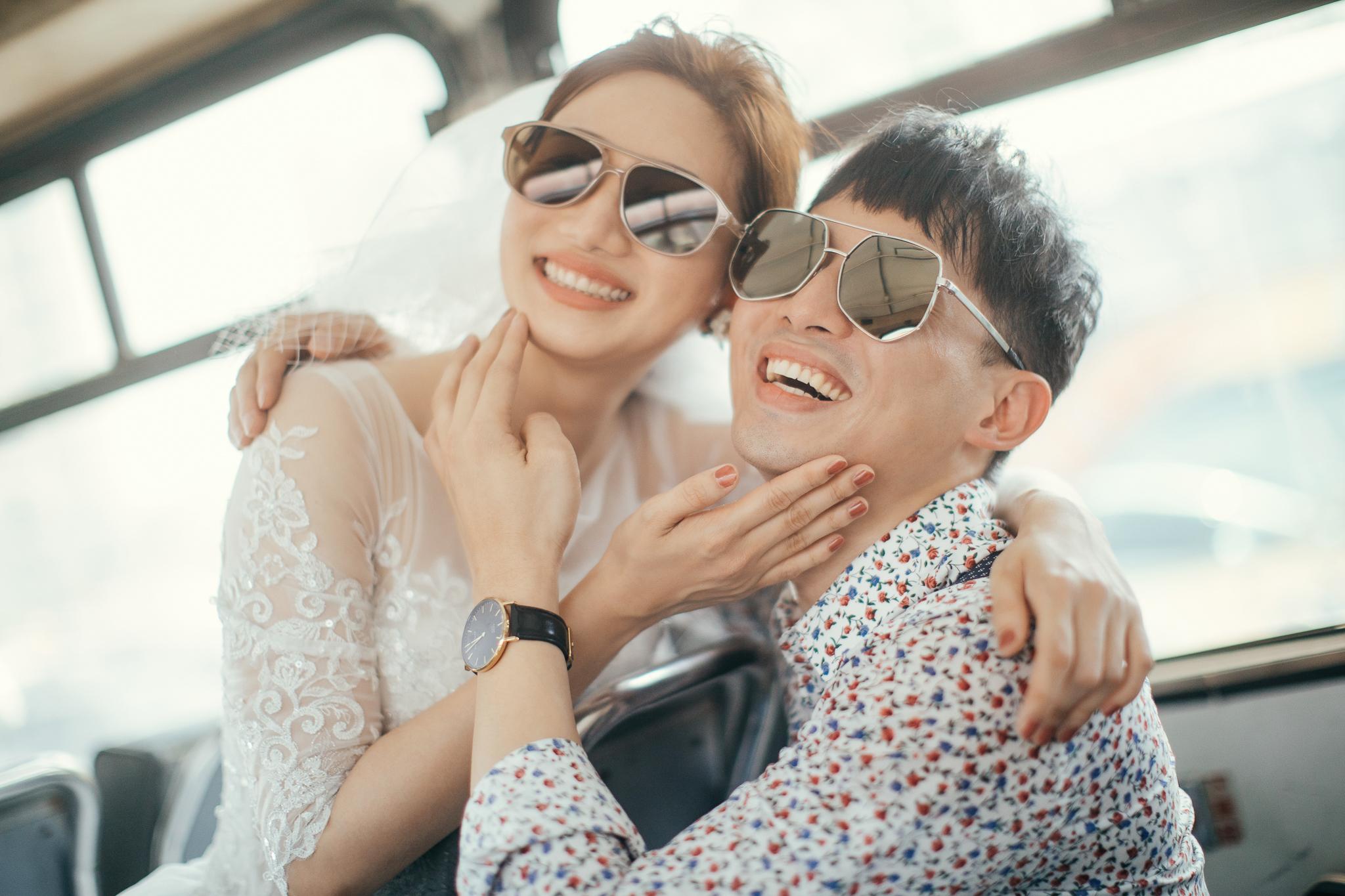 台南自助婚紗|廢棄公車也能拍出空氣感的日系婚紗|Hermosa Wedding