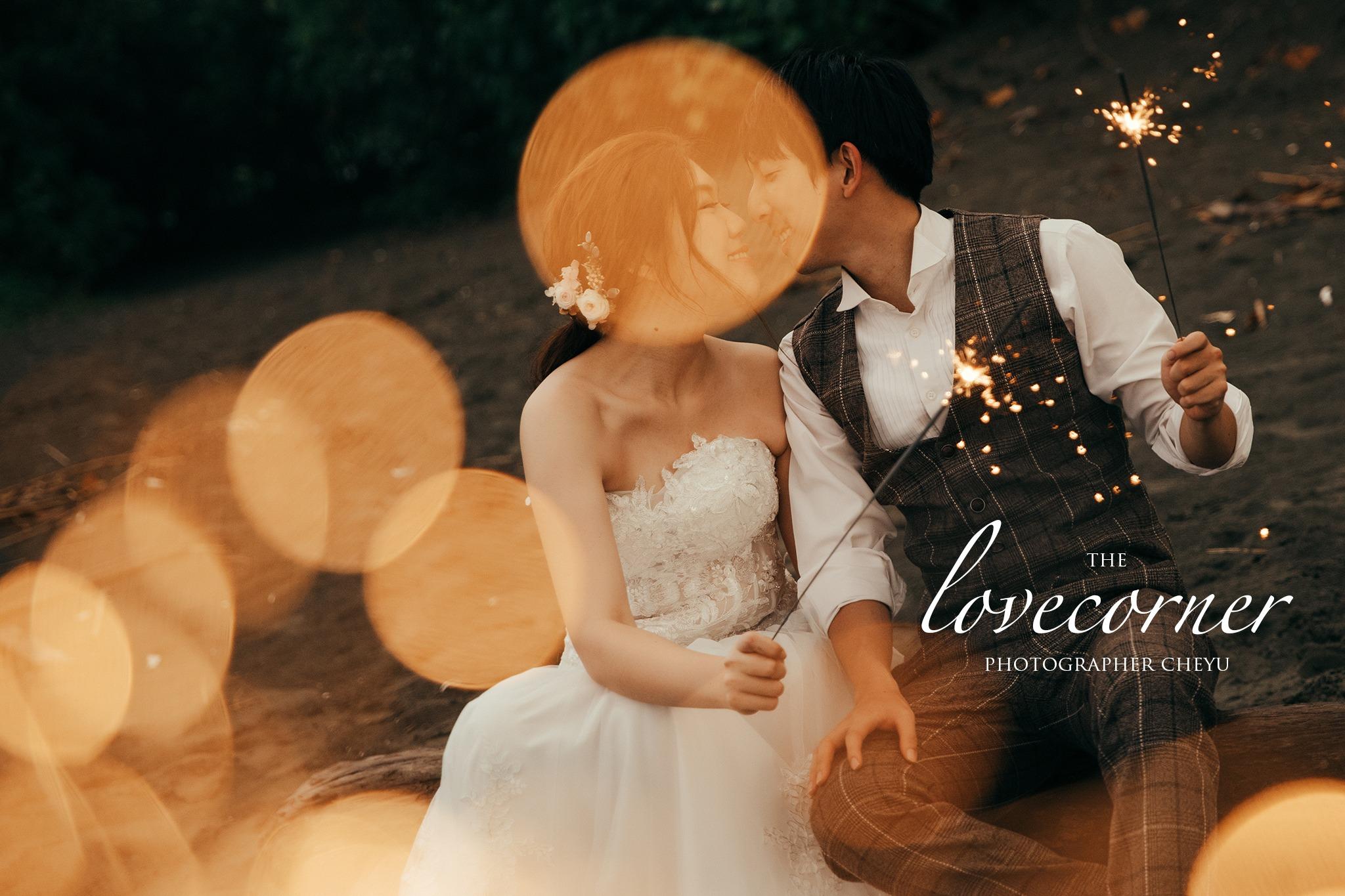 推薦台南自助婚紗|碰出愛情的火花|怒推仙女棒婚紗
