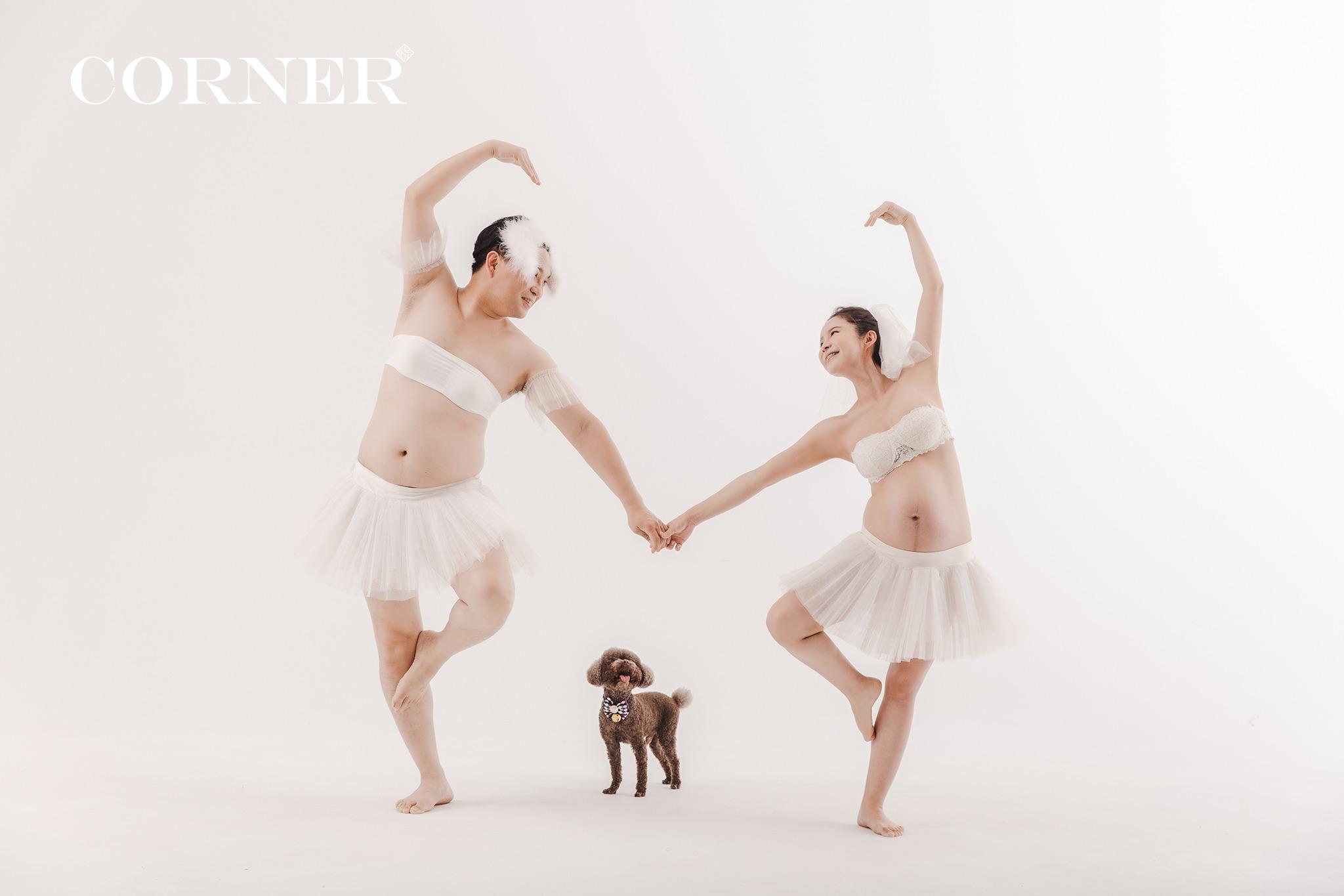 台南孕婦寫真|芭蕾舞風格|搞笑版