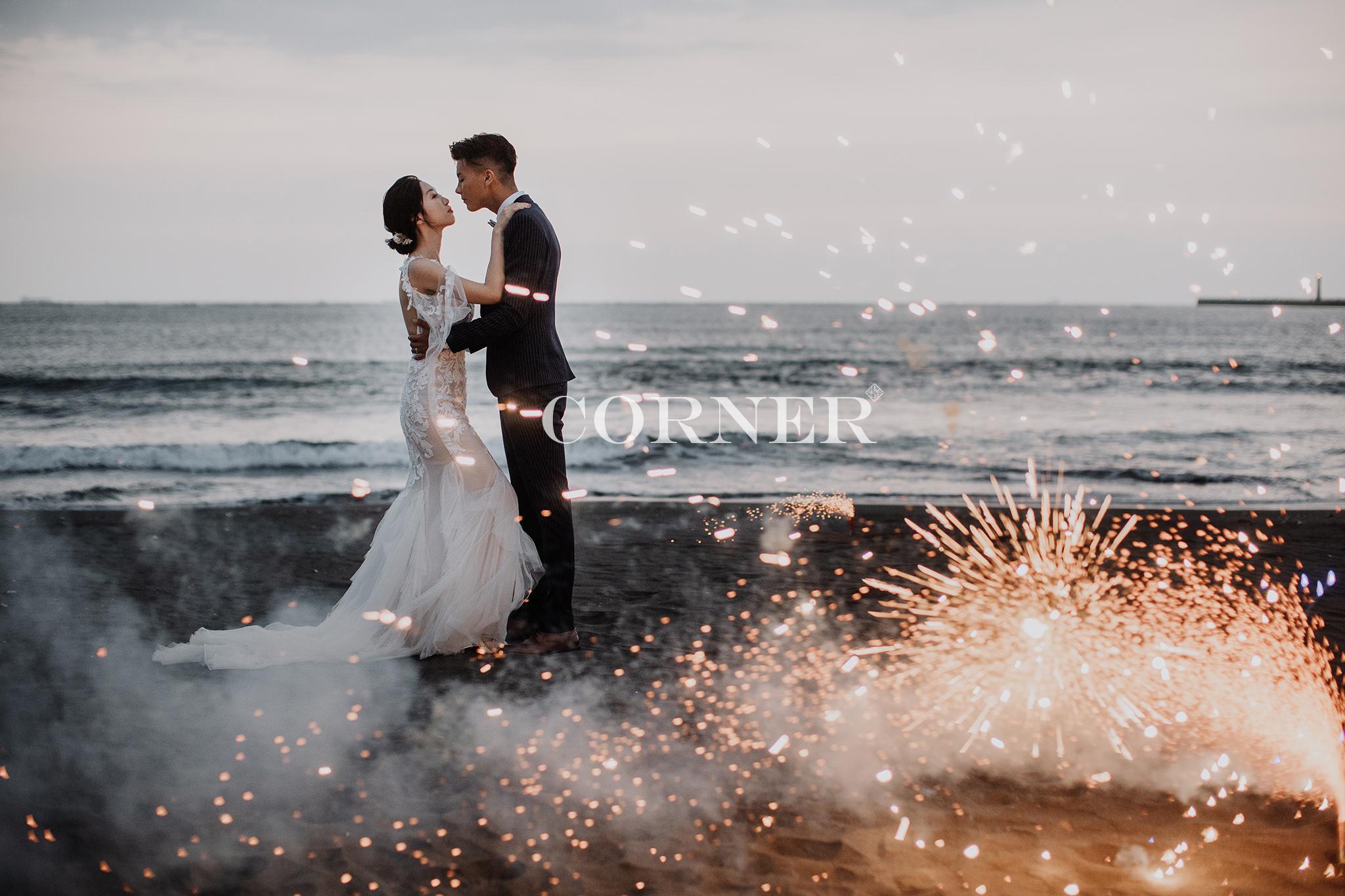 台南自助婚紗|刷爆朋友圈的煙火婚紗風格|inBlossom