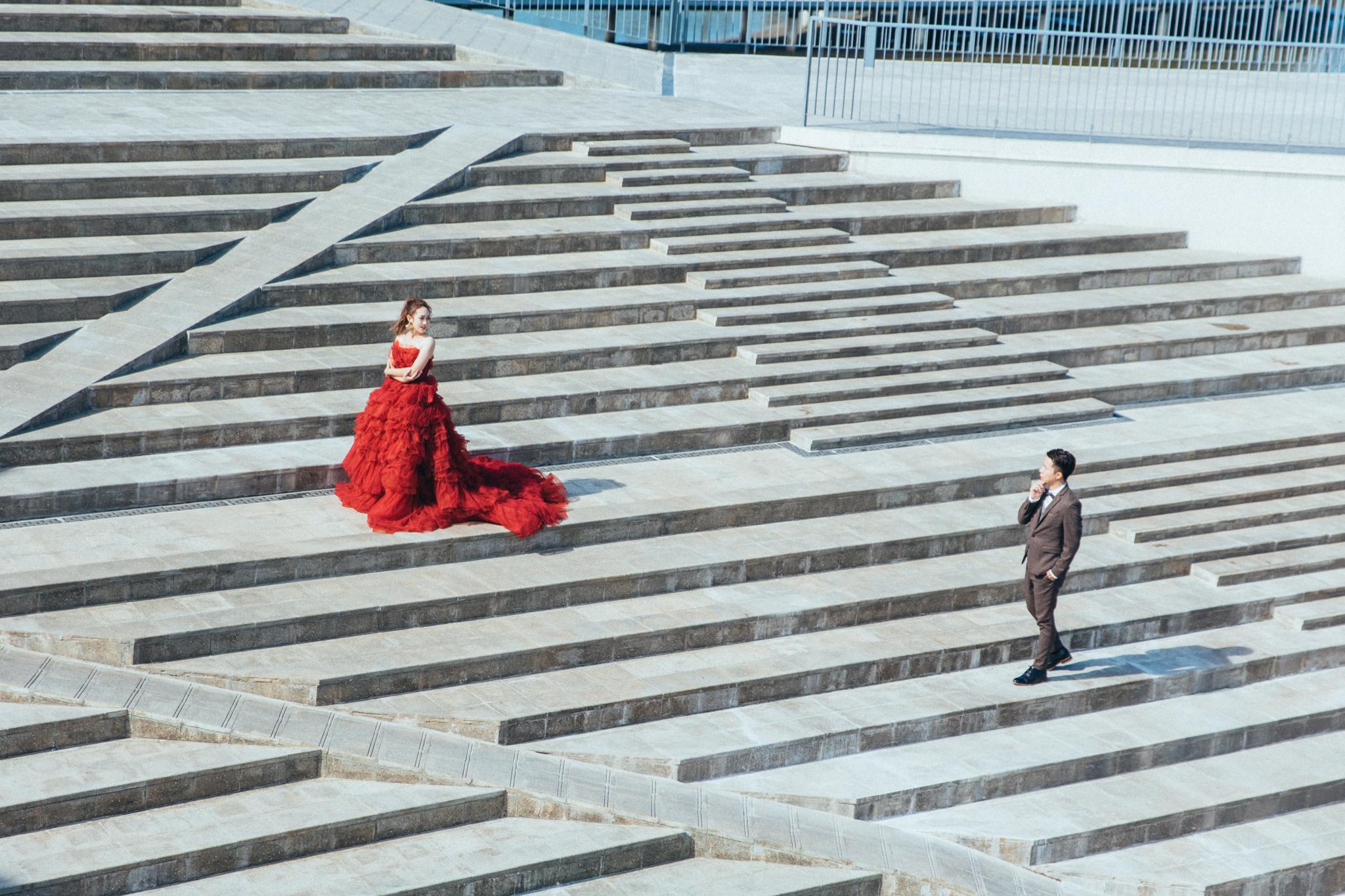 台南鹽山婚紗|可甜可鹽的浪漫風婚紗照|inBloss