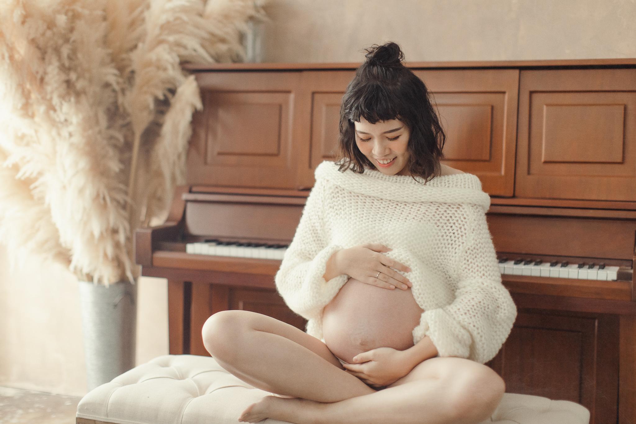台南孕婦寫真推薦|慵懶又有氣質的小清新孕婦照