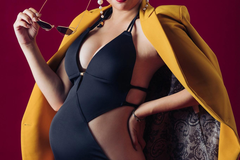 台南孕婦寫真推薦|泳衣時尚大片style